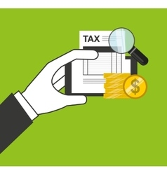 Tax payment online icon vector