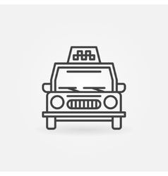 Taxi linear icon vector image