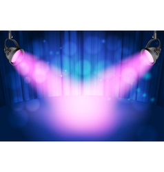 theatre spot lights vector image