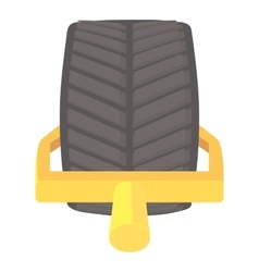 Tire icon cartoon style vector