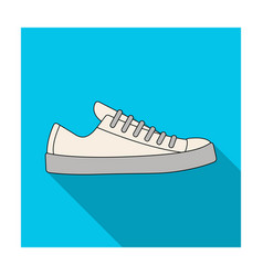 white sneakers unisex lace up shoes for sports vector image