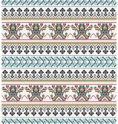Aztec pixel seamless pattern Ideal for printing vector image