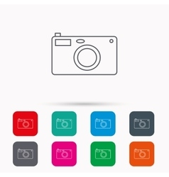 Photo camera icon photographer equipment sign vector