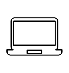 Laptop computer flat line icon vector