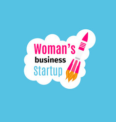Womans business startup logo design vector