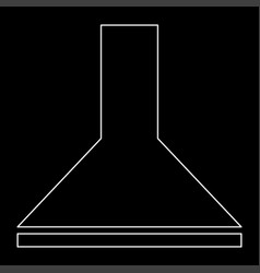 Exhaust hood the white path icon vector