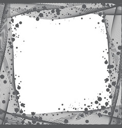 Frame curve lines and blots vector