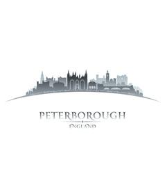Peterborough England city skyline silhouette vector image