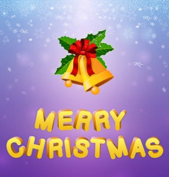 Bells merry christmas vector image