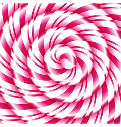 Pink and white candy cane sweet spiral vector