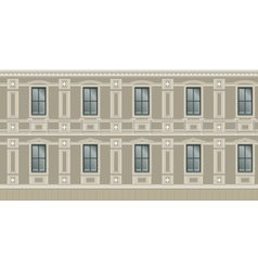 Building facade parts vector