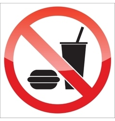 Food forbidden icon vector