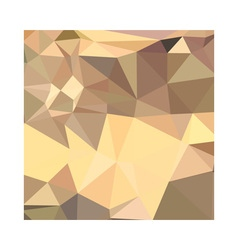 Flavescent yellow abstract low polygon background vector