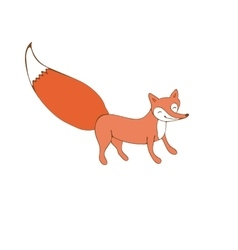Colorful hand drawn of fox character vector image
