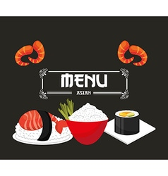 Japanese food menu vector