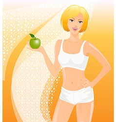 Healthy fitness girl vector