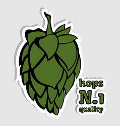 Hops number 1 quality beer ingredient vector