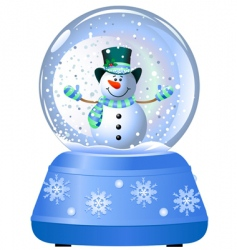 snowman in snow globe vector image