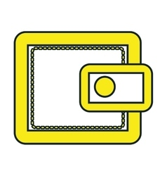 Yellow wallet over white background vector
