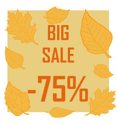 a discount of seventy five percent surrounded by vector image vector image