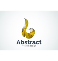 Abstract swirl logo template smooth elegant shape vector image