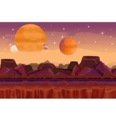 Cartoon sci-fi game seamless background vector