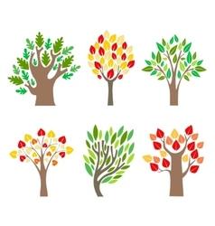 Cartoon Trees Set vector image vector image