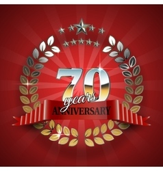 Celebrative Golden Frame for 70th Anniversary vector image