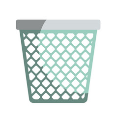 Colorful graphic of office trash can without vector