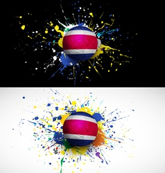 costarica flag with soccer ball dash on colorful vector image vector image