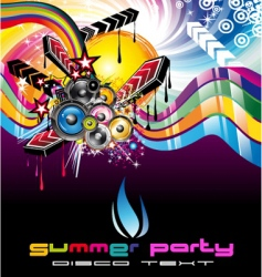 Discotheque dj flyer vector
