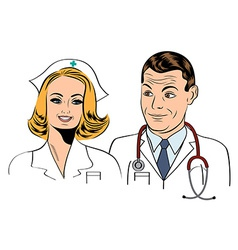 Doctor and nurse vector