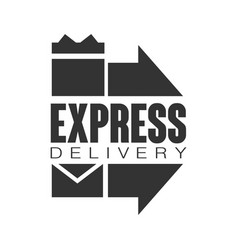 express delivery logo design template black vector image