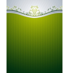 Green background with decorative ornaments vector