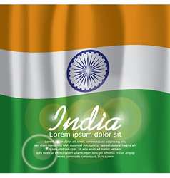 India Flag Curtain vector image vector image