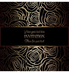 Invitation decorative golds 38 vector