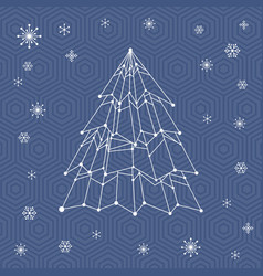 it web christmas tree vector image