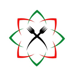Logo for a restaurant or cafe vector image