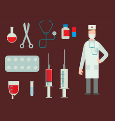 Medical symbols emergency sign cross first sterile vector