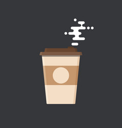 Modern icon of coffee with steam vector
