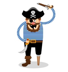 Pirate on a white background vector