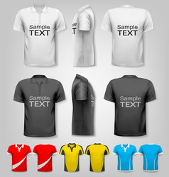 polo shirts with sample text space vector image