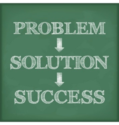 Problem Solution Success Diagram vector image