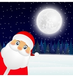 Santa Claus standing in the forest vector image vector image