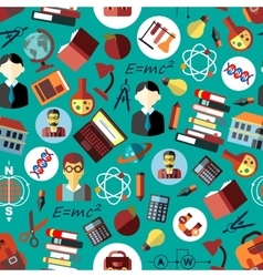 Science and education flat seamless pattern vector