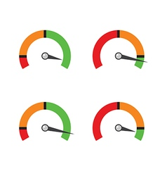 Set indicator showing a progress of performance vector image vector image