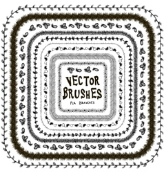 set of brush winter vector image