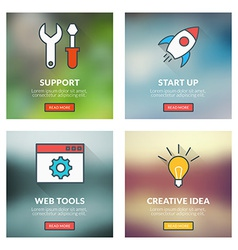 Set of flat design concepts technical support vector