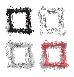 Set of grunge frames Watercolor retro vintage vector image