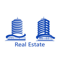 set of icons real estate vector image